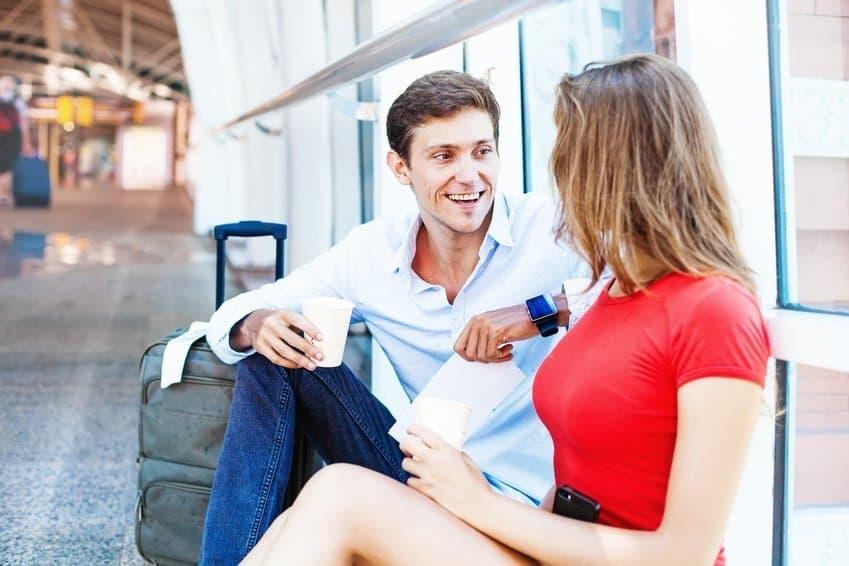 Gespräch beginnen Frau