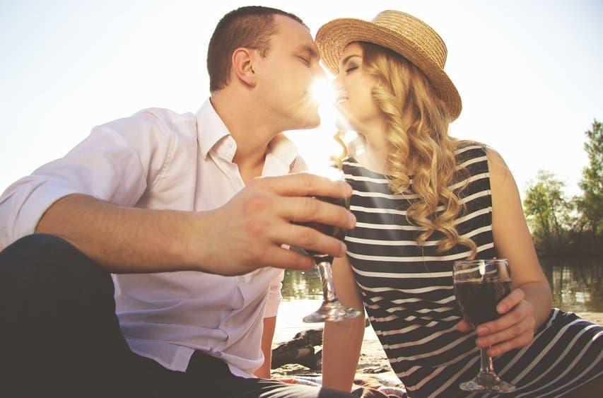 Der erste Kuss küssen Picknick